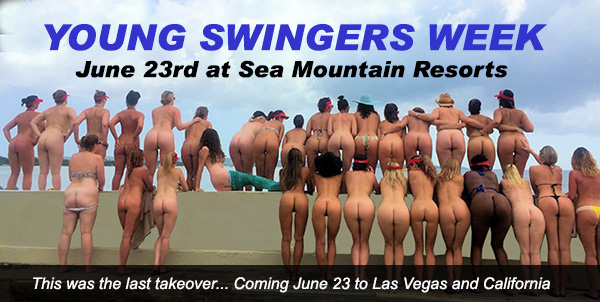 Young Swingers Week at Sea Mountain Nude Lifestyles Resorts